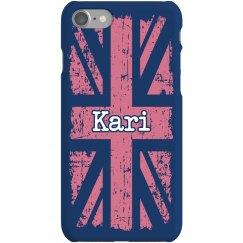 UK Pink iPhone Case