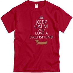 Keep Calm/Love Dachshund