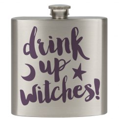 Flask Drink Up Witches
