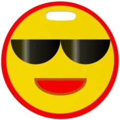 Sunny Face Luggage Tag