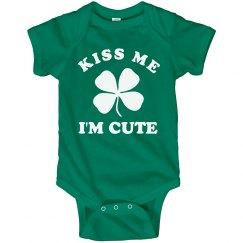 Kiss Me I'm Cute Irish Baby