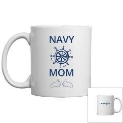 Personalize navy mom coffee mug