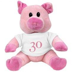 Pink Pigg 30 Teddy