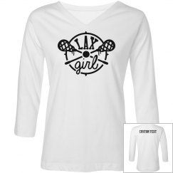 Custom Lax Girl Long-Sleeve Shirt