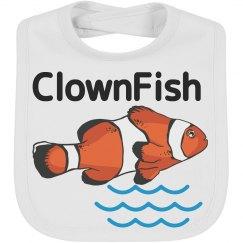 Clownfish summer infant bib