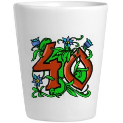 40th Shots Glass