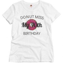 Donut miss my birthday