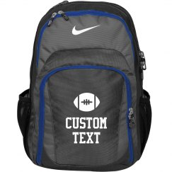 Custom Text Nike Football Practice Backpack/Bag