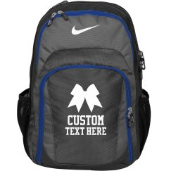 Custom Cheerleader Practice Backpack With Bow