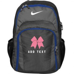 Custom Name/Text Cheerleader Bow Practice Backpack