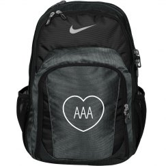 Custom Initials In Heart Monogrammed Backpack For Girls