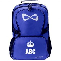 Custom Monogram/Initials Keep Calm Crown Backpack