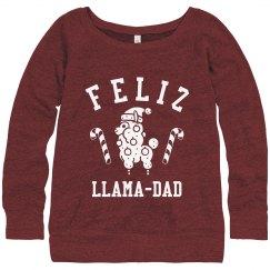 Red Santa Llama Feliz Llama-dad