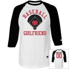 A Baseball Girlfriend Tee With Custom Name Number