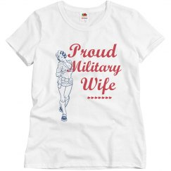 Proud Army Wife Pin-Up
