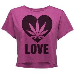 Heart Ganja Love Crop Shirt