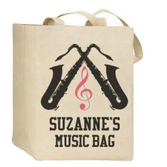 Saxophone Marching Band Custom Music Tote Bag