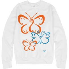 Butterfly crew neck sweater
