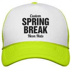 Spring Break Neon Hats
