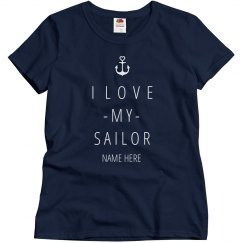 I Love My Sailor Anchor