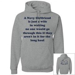 Navy Wife in Waiting Hood