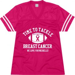 Time To Tackle Breast Cancer Football Game