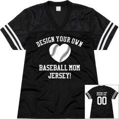 Baseball Mom Jersey Custom Name Number