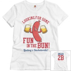 Fun in the Bun Baseball Bachelorette Shirt Bridesmaids