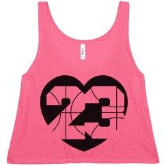 Trendy Basketball Girlfriend Shirt Crop Top