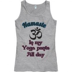 Namaste yoga tank top