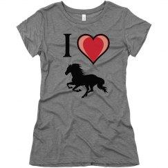 I love horses - T-shirt
