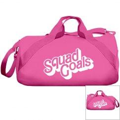 Squad Goals Hot Pink Duffle Bag