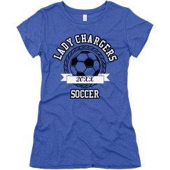 Girls Soccer Tee