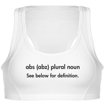Abs Definition Sports Bra