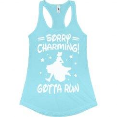 Sorry Charming Princess Run Tank