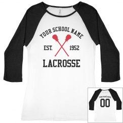 Lacrosse Mom Biggest Fan Custom Name Number
