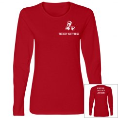 """Basic Red """"Just Grind"""" Long Sleeve Tee"""
