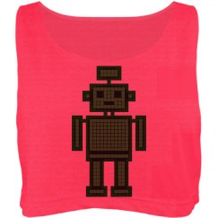 8Bit Bot Crop Top