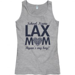 Custom High School Lacrosse Mom Tank