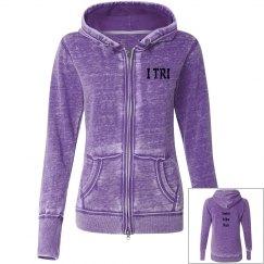Adorable lavender TRI hoodie