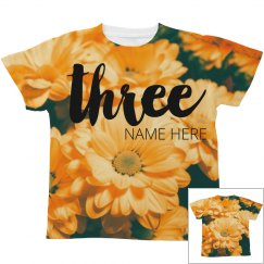 Floral Three Year Old Design