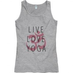 Live Love Yoga Fitness with Om Symbol