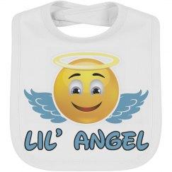 Trendy Lil Angel Emoji Baby Bib