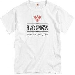 Lopez family shirt