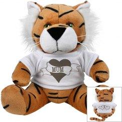 Tiger Mum Plush Toy