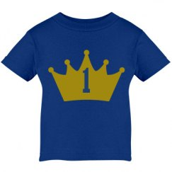 Baby's 1st birthday t-shirt with a prince theme