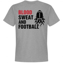 Blood sweat and football