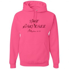 NOT HELPLESS - Ladies Hoodie - Philippians 4:13