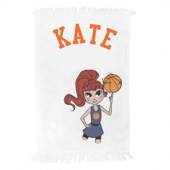Personalized Basketball Girl Towel