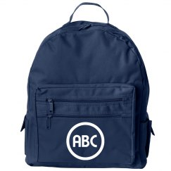 Custom Initials Simple School Backpack